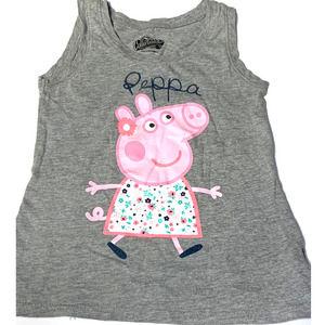 ⭐ 4/$25 Gray Peppa Pig 5T Tank